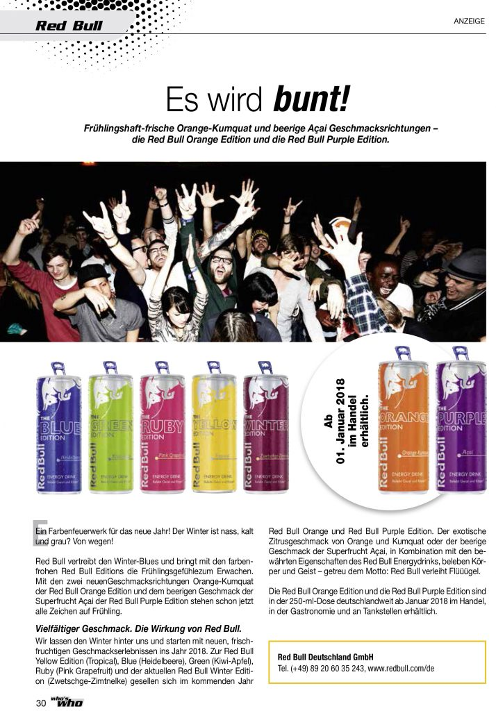 Red Bull who's who